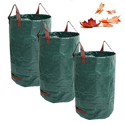 TTFGG Saco De Jardín Bolsa De Basura,Jardín Grande Resistente del Saco De Residuos De Jardín con 4 Mangos, Ideal para Hojas, Hierba, Malas Hierbas Esquejes Y Otros (Pack De 3),132 gallons/500L