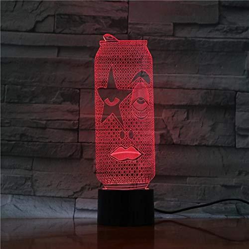 La botella de bebida con luz nocturna 3D con varios colores