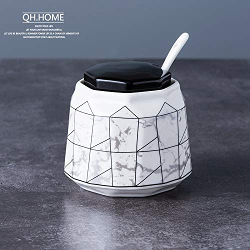 Forniture per cucina alte in ceramica Scatola per condimenti per la casa Shaker per sale Ciotola per...