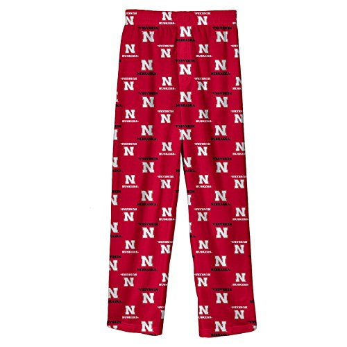 OuterStuff NCAA niños NCAA niños y jóvenes niños Logotipo del Equipo Lounge Pant, niño (NCAA Kids & Youth Boys Team Logo Lounge Pant), Rojo Universidad,...