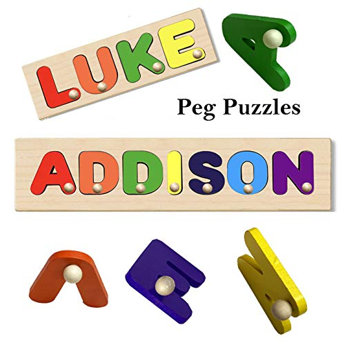 Peg Puzzle Kids Personalized Wooden Peg...