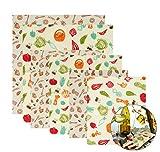 Lyeiaa Envoltorio reutilizable para alimentos, 6 unidades, de cera de abeja con ingredientes naturales, respetuoso con el medio ambiente, envoltorios