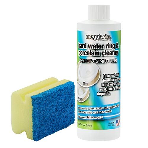 Megabrite Toilet Bowl Cleaner- Gel Pumice Stone Toilet Bowl Cleaner and Hard Water Stain Remover – Liquid Pumice Stone for Toilet - Made with Essential Oils