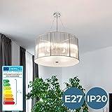 Chandelier Ceiling - EEC: A++ to E, Ø 50cm, 4 x E27, Choice of Colours, Retro - Hanging Pendant Light, Decorative Suspension Lamp - for Living Room, Bedroom, Hallway, Corridor, Kitchen
