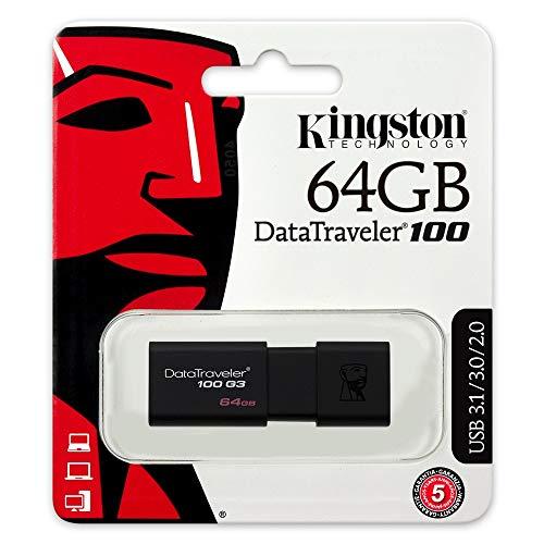Clés USB Kingston Digital Data Traveler 100 G3 64GB(DT100G3 / 64GB) - 5