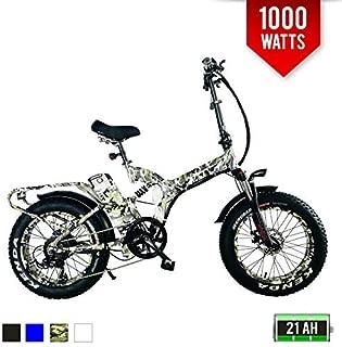 BPM F 1000W Full Suspension 21AH 48V Fat TIRE Electric Bike Bicycle Folding