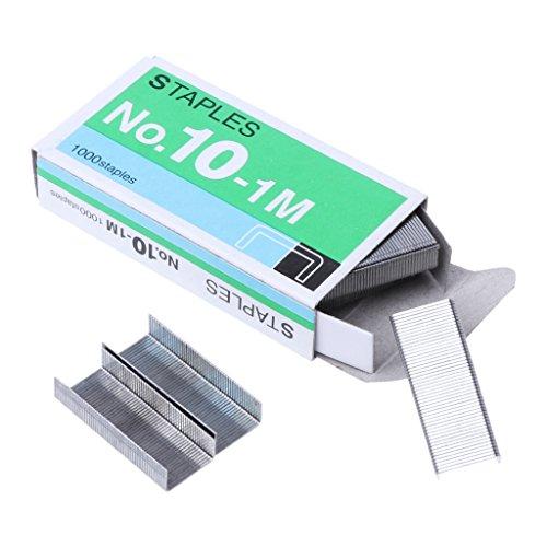 YO-HAPPY Pin de Grapas, 1000 Piezas/Caja Abrazaderas de Metal No. 10 Encuadernación Material Escolar de Oficina Papelería