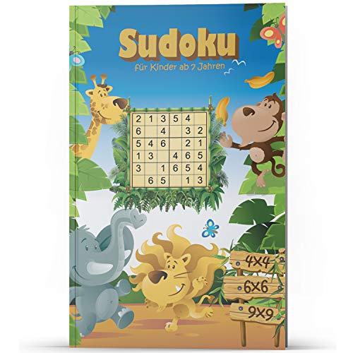 Sudoku für Kinder ab 7 Jahren: 200 Sudoku-Rätsel für Kinder, fördert logisches Denken, 4x4 6x6 9x9 Sudokus, leicht bis schwer, Konzentrationsspiele, ... für Kinder, tolle Beschäftigung für Kinder