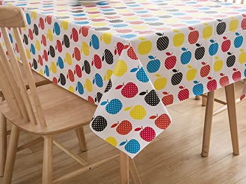 Vinylla - Mantel de PVC fácil de limpiar, pvc, 140 x 140 cm