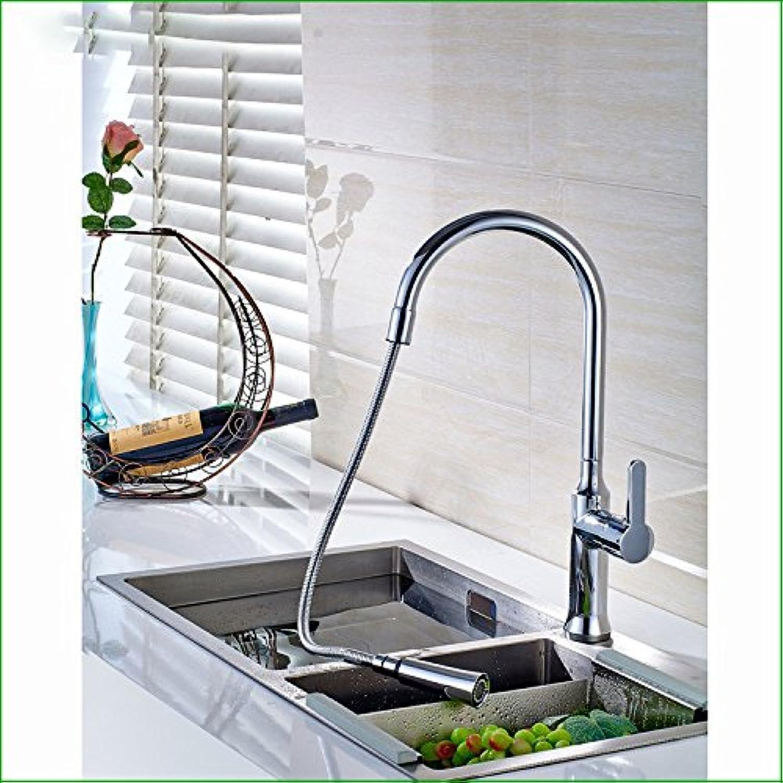 SHLONG Spüle Wasserhahn Küchenüberzug heien und kalten Wasserhahn kann die drehbare Spüle Wasserhahn Mischhahn ziehen