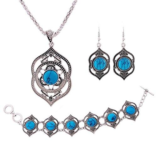 Retro Style Tibetan Silver Blue ...