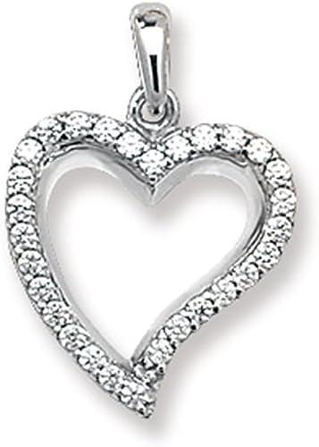 mejor opcion Para Niños 9ct 9ct 9ct oro blanco circonitas cúbicas Juego de collar con colgante en forma de corazón en un príncipe de Gales  minoristas en línea