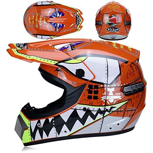 Amacigana® Fullface Motocross Helm Set...
