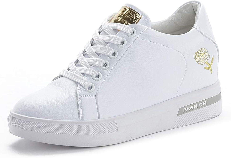 Springaa Faux läder skor kvinnor All vit Casual skor skor skor Lace Up guld silver Wedge skor Platform  rabattförsäljning