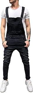 HaiDean Men Dungarees Mens Jeans Modern Jumpsuit Shorts Dungarees Men Casual Jumpsuit Short Dungarees Shorts Length Denim ...