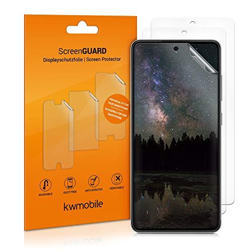 kwmobile 3x pellicola salvaschermo compatibile con Samsung Galaxy A52 / A52 5G / A52s 5G - Film protettivo proteggi telefono - protezione antigraffio Pellicola display smartphone