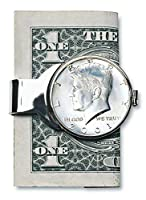 Coin Money Clip - JFK Half Dollar | Brass Moneyclip Layered in Silver-Tone Rhodium | Holds Currency, Credit Cards, Cash | Genuine U.S. Coin | Includes a Certificate of Authenticity 商品カテゴリー: 財布 マネークリップ [並行輸入品]