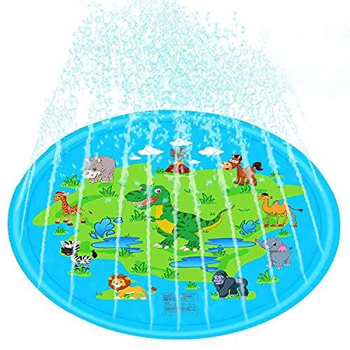 ASWT -Almohadilla de aspersión para niños, Fiesta de aspersores al Aire Libre, Inflable, Inflable para niños, Alfombrilla para Jugar en la Piscina, Juguetes acuáticos para niños y niñas,5m Water Pipe