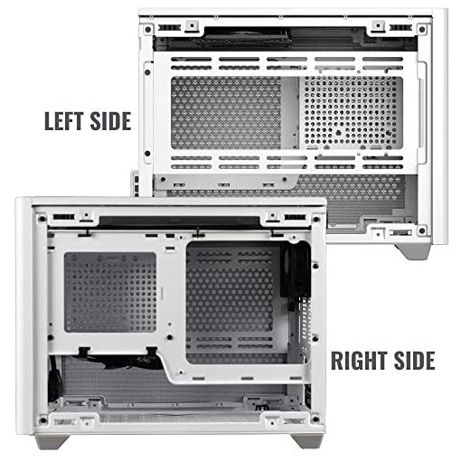 Cooler Master NR200 Caja Mini-ITX de Factor de Forma pequeño SFF Blanco con Panel ventilado, GPU de Triple Ranura, sin… 13