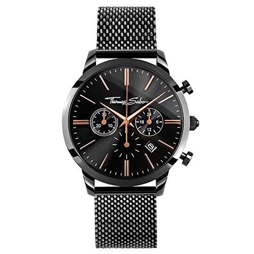 Thomas Sabo Herren Armbanduhr Chronograph Quarz Edelstahl WA0247-202-203-42 mm