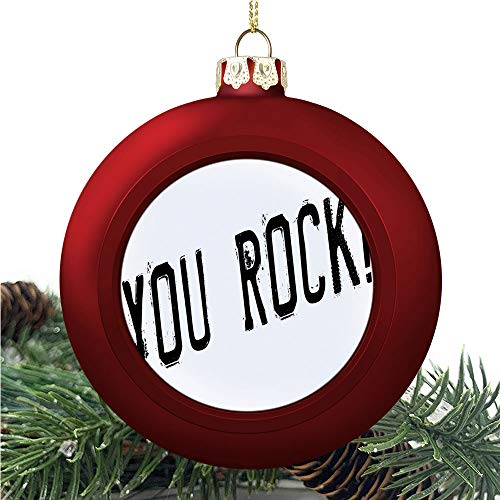 aosup You Rock Popular/Christmas Ball Ornaments 2020 Christmas Pendant Personalized Creative Christmas Decorative Hanging Ornaments Christmas Tree Ornament №AM035047