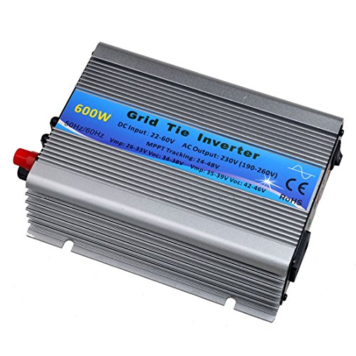 Y&H 600W 30V/36V Grid Tie Inverter Stackable MPPT Pure Sine Wave DC22-60V to AC90-140V Output