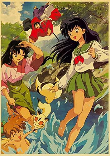 JHGJHK Anime japonés Takahashi Rumiko Pintura al óleo decoración del hogar Pintura al óleo Anime Ventilador decoración Pintura 5