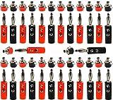 RUNCCI-YUN Conector banana 4mm,Zócalo de Altavoz de Audio de 4 mm,Conectores Jack Aislados 4mm,...
