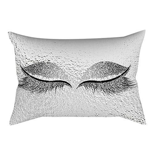TWIFER Eyelash Out Soft Velvet Kissenhüllen 30X50Cm Marmorkissenbezüge (D,30 cm x 50 cm)