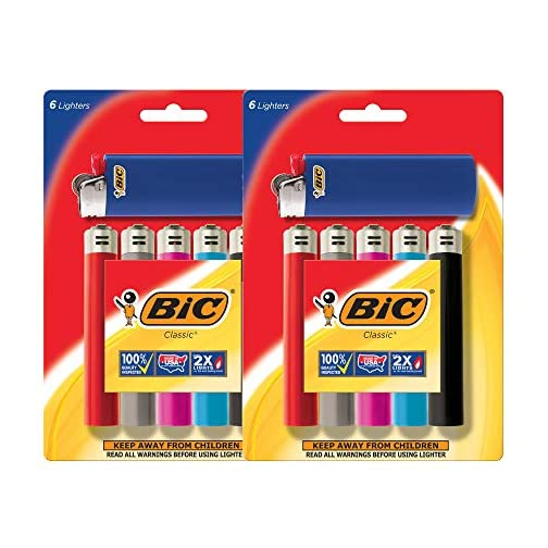 BIC Lighter Classic, Full Size 12 Pieces, Bulk Packaging 3