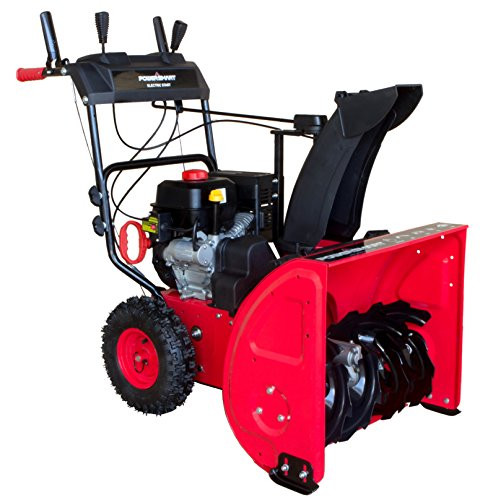 Image of PowerSmart DB7624E 24 in. 212cc 2-Stage Electric Start Gas Snow Blower: Bestviewsreviews