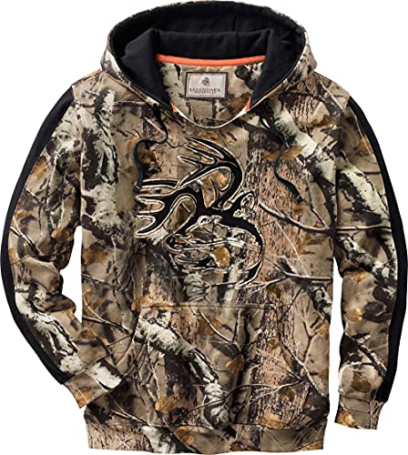 Legendary Whitetails Mens Camo Outfitter Hoodie BG Field Camo Large