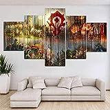 Spetich 5 Teilig Leinwand Wanddeko Gerahmter Malerei