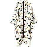 ワールドパーティー(Wpc.) キウ(KiU) レインポンチョ 南国花鳥 オフホワイト cm [KiU RAIN PONCHO] K64-157