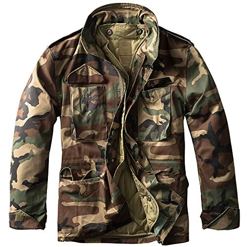 urbandreamz M65 Feldjacke Woodland L