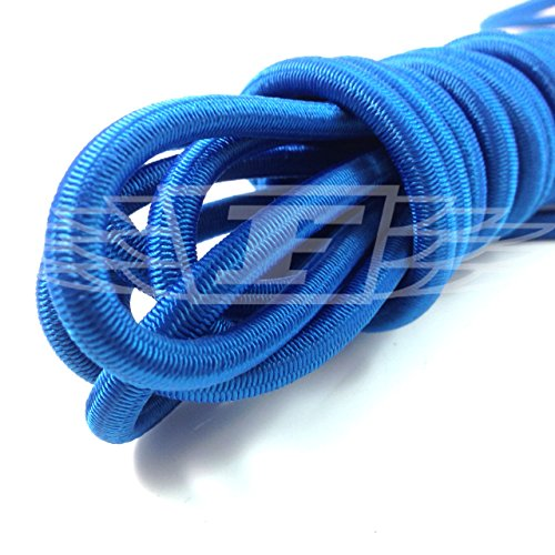6 METRES OF BLUE REPLACEMENT TODDLERS TRAMPOLINE ELASTIC 10mm THICK BUNGEE CORD