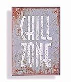 Wandschild Metall Shabby Dekoschild Chill Zone Dekoration von Haus der