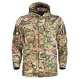 EVFIT Abrigo de Exterior para Hombre Chaquetas Rompevientos al Aire Libre Militar de Mitad de Longitud M65 Chaquetas...
