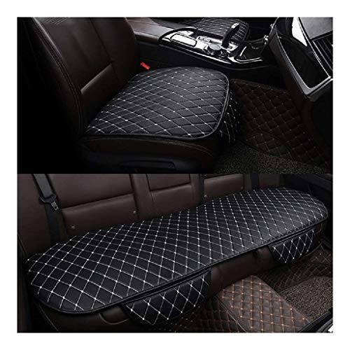 Car Seat Cover Compatible with Hyundai Tucson 2019 2020 Car Seat Cushion Protector Pad Front Rear Pad Fit for Most Cars Four Seasons Protect Cushion Mat Protector ( Color : Black with White )