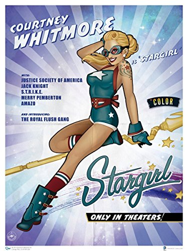 Quantum Mechanix DC Bombshells Stargirl Poster by Ant Lucia 18 x 24in