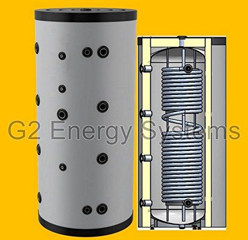 500 750 1000 Liter Hygienespeicher, Boiler mit Edelstahlwellrohr zur legionellenfreien Trinkwasseraufbereitung, Pufferspeicher, Trinkwasserspeicher, ohne zusätzlichen Wärmetauscher