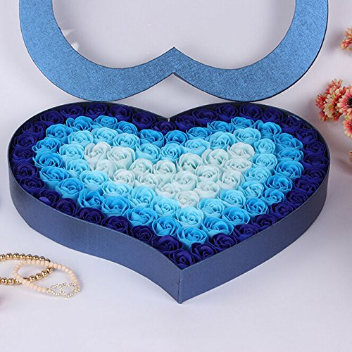 Doolland pour Elle, Rose préservée, Cadeau d'anniversaire Unique pour Femme, Petite Amie, mère Romantique, Cadeau de Saint-Valentin - Bleu