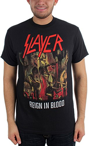 Slayer Reign In Blood Adult S/S Tee in Black, Large, Black