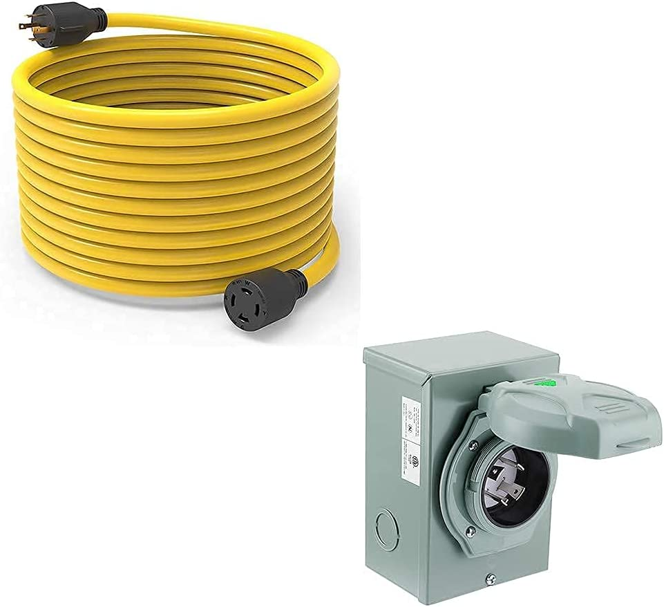 Buddle Items: BougeRV 55% OFF 30 Amp 40ft, Extension Cord Generator Opening large release sale