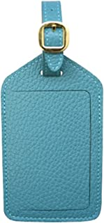 Teal Colorado Collection Genuine Leather Travel Luggage Tags - Made in USA by Real Leather Creations - Factory Direct FBA670
