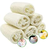 6 Pcs Loofah Naturel, Luffa Douche Eponge Spa Exfoliant Naturelle Éponges Body Scrubber pour le Bain, 10cm Length de Eponge Loofah pour Bain Douche, Savons diy, soins du Corps et Cuisine Nettoyage