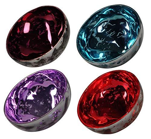 netproshop Schwimmschale aus Glas 7,5cm Durchmesser, Farbauswahl, Farbe:Burgund, Auswahl1:7.5 cm