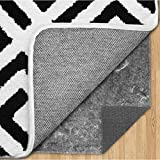 Gorilla Grip Original Felt and Rubber Underside Gripper Area Rug Pad .25 Inch Thick, 9x12 FT, for Hardwood and Hard Floor, Plush Cushion Support Pads for Under Carpet Rugs, Protects Floor