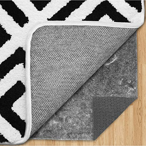 Gorilla Grip Extra Plush Felt and Natural Rubber Pad Protects Floors, Reduce Noise, Thick Cushioned Gripper, 4x6 FT Hardwood Area Rugs, Cushion Support Rug Pads for Hard Floor Under Carpet