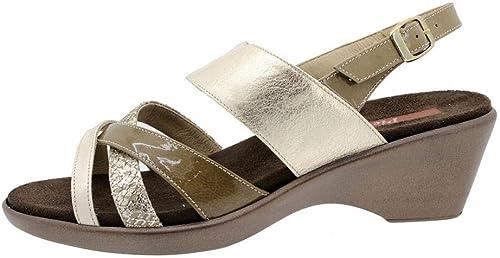Zapato Cómodo damen Sandalia Plantilla Extraíble 6859 PieSanto